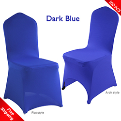 Free Shipping_100 pcs! Dark Blue Stretch chair covers,Lycra Banq
