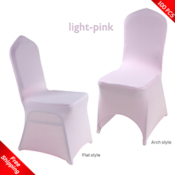 Free Shipping_100 pcs! light-pink Stretch chair covers, Wedding