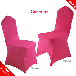 Free Shipping_100 pcs! carmine Stretch chair covers, Wedding Spa
