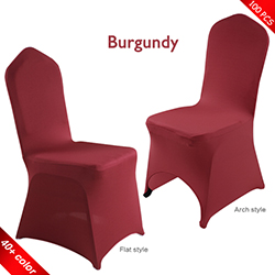 Free Shipping_100 pcs! burgundy Stretch chair covers, Wedding Sp