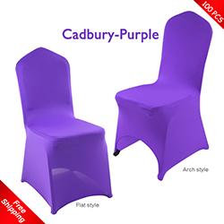 Free Shipping_100 pcs! Cadbury-purple Stretch chair covers, Spa
