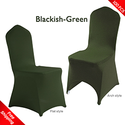 Free Shipping_100 pcs! blackish-green Stretch chair covers, Span