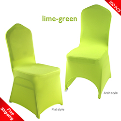 Free Shipping_100 pcs! lime-green Stretch chair covers,Spandex c