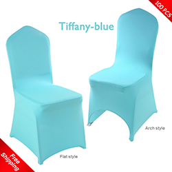 Free Shipping_100 pcs! tiffany-blue Stretch chair covers,Spandex