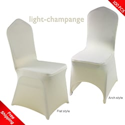 Free Shipping_100 pcs! light-champange Stretch chair covers,Span