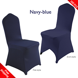 promotional Free Shipping_100 pcs! navy-blue Stretch chair cover