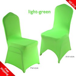 Free Shipping_100 pcs! light-green Stretch chair covers,Spandex