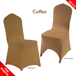 Free Shipping_100 pcs! coffee Stretch chair covers,Spandex chair