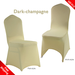 Free Shipping_100 pcs! dark-champagne Stretch chair covers,Spand
