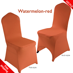 Free Shipping_100 pcs! watermelon-red Stretch chair covers,Spand