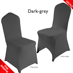 Free Shipping_100 pcs! dark-grey Stretch chair covers,Spandex ch