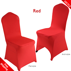 Free Shipping_100 pcs! red Stretch chair covers,Bright-Red Spand