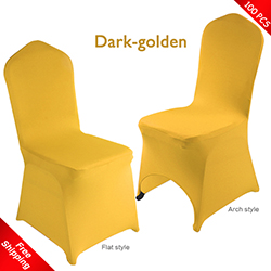 Free Shipping_100 pcs! dark-golden Stretch chair covers,Spandex