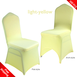 Free Shipping_100 pcs! light-yellow Stretch chair covers,Spandex