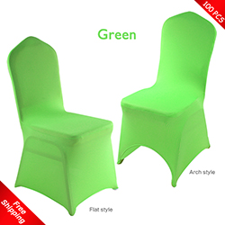 Free Shipping_100 pcs! green Stretch chair covers, Wedding Spand