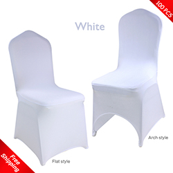 promotional Free Shipping_100 pcs! white Stretch chair covers