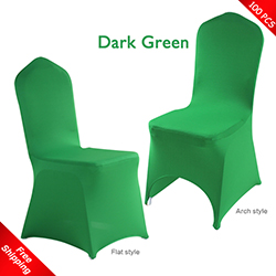 Free Shipping_100 pcs! Dark-Green Stretch chair covers, Wedding
