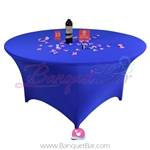 Dark Blue Stretch table covers,Lycra Banquet tablecloth