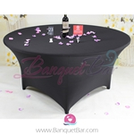 Black Stretch table covers, Wedding Spandex tablecloth,Lycra