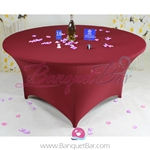 burgundy Stretch table covers, Wedding Spandex tablecloth,Lycra