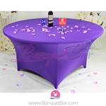 Cadbury-purple Stretch table covers, Spandex tablecloth,Lycra