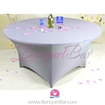 silver-grey Stretch table covers, Spandex tablecloth,Lycra