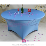 skyblue Stretch table covers, Spandex tablecloth,Lycra