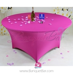 fuchsin Stretch table covers,Spandex tablecloth,Lycra