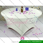 ivory Stretch table covers,Spandex tablecloth,Lycra Covers