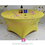 Yellow Stretch table covers, Yellow Spandex tablecloth,Lycra
