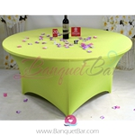 lime-green Stretch table covers,Spandex tablecloth,Lycra Covers