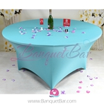 tiffany-blue Stretch table covers,Spandex tablecloth,Lycra Cover