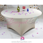 light-champange Stretch table covers,Spandex tablecloth,Lycra Co