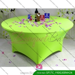 light-green Stretch table covers,Spandex tablecloth,Lycra Covers