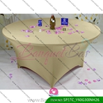 dark-champagne Stretch table covers,Spandex tablecloth,Lycra Cov