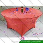 watermelon-red Stretch table covers,Spandex tablecloth,Lycra Cov