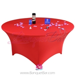 red Stretch table covers,Bright-Red Spandex tablecloth,Lycra