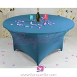 blue Stretch table covers, blue Spandex tablecloth,Lycra