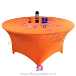 orange Stretch table covers, Wedding Spandex tablecloth,Lycra