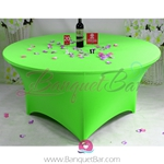 green Stretch table covers, Wedding Spandex tablecloth,Lycra