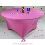 pink Stretch table covers, Wedding Spandex tablecloth,Lycra