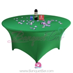 Dark-Green Stretch table covers, Wedding Spandex tablecloth,Lycr