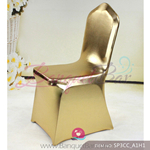 golden Metallic stretch chair covers/metallic spandex chair cove