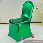 green Metallic stretch chair covers/metallic spandex chair cover