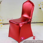 red Metallic stretch chair covers/metallic spandex chair covers