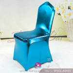 blue Metallic stretch chair covers/metallic spandex chair covers