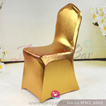 bright golden Metallic stretch chair covers/metallic spandex cha
