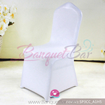 white Metallic stretch chair covers/metallic spandex chair cover