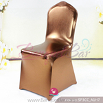 copper Metallic stretch chair covers/metallic spandex chair