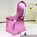 pink Metallic stretch chair covers/metallic spandex chair covers